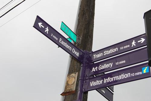 Street signs at Peel St