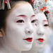people / faces / girls / red lips / make up / festival : maiko (geisha apprentices), kyoto japan