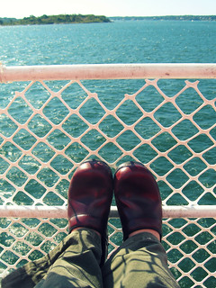 Danskos on the Ferry