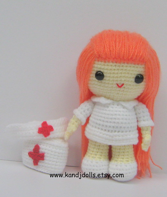 Amigurumi Nurse Pattern : Flickriver: K and J Dollss photos tagged with enfermera