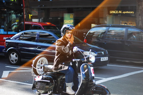 Vespa Girl by ▓▒░♠ ★Rob H ♠░▒▓
