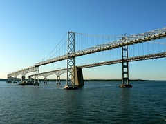 sea, channel, pier, bridge, cable-stayed bridge,