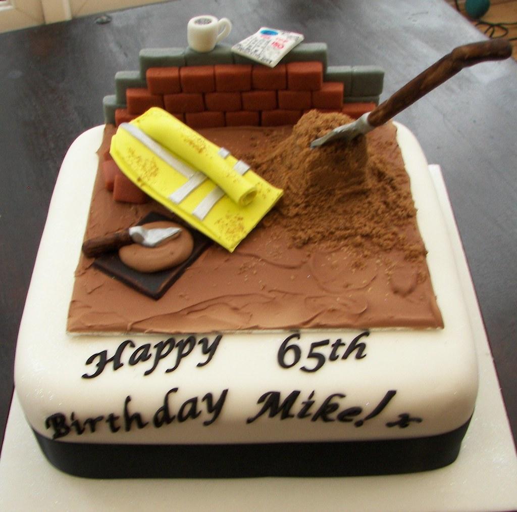 Building Site Cake For Quantity Surveyor