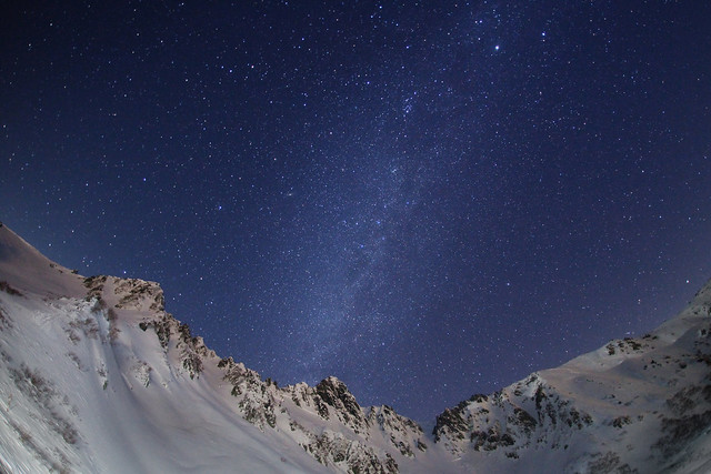 Alpen snow galaxy