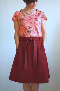 Vintage tee and wrap skirt