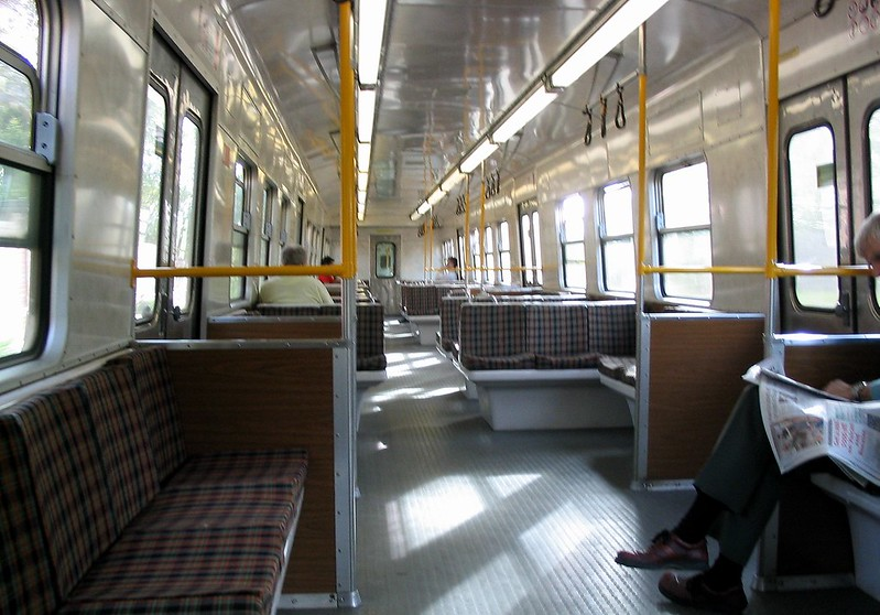 Hitachi train interior (March 2004)