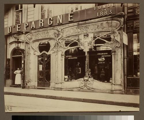 Boutique art nouveau, 45 rue st. Augustin (2e arr)