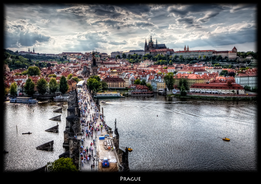 Prague Charles Bridge Panorama