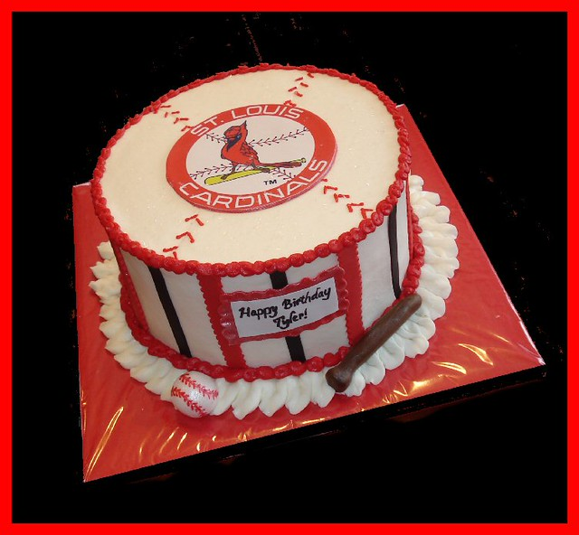 Cardinal Cake Images : St Louis Cardinals cake for Tyler Flickr - Photo Sharing!