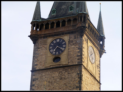 Clock on the Old Town Hall Tower