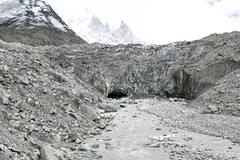 valley(0.0), mountain pass(0.0), quarry(0.0), moraine(1.0), mountain(1.0), snow(1.0), rockfall(1.0), glacial landform(1.0), mountain range(1.0), cirque(1.0), formation(1.0), glacier(1.0), geology(1.0), ridge(1.0), plateau(1.0), wadi(1.0), badlands(1.0),