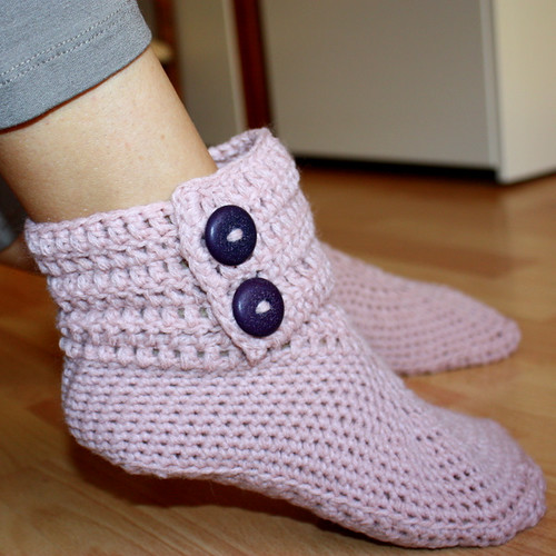 Free Crochet Ladies Slipper Boot Patterns : Ladies Ankle Boots Flickr - Photo Sharing!