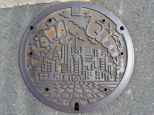 Ikoma city Nara pref manhole cover(奈良県生駒市のマンホール)