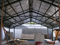 outdoor structure, building, canopy, beam,