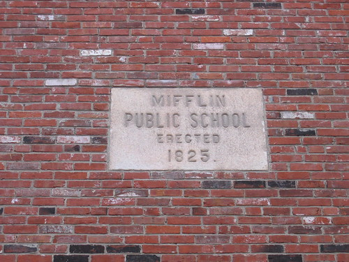 Sign, Mifflin Public School, Northern Liberties