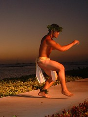 Hawaiian Male Hula dancer