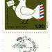 Israel Postage Stamp: U.P.U bird by karen horton