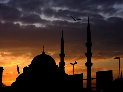 Isztambul naplemente
