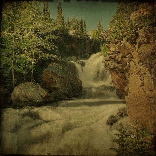 trees water pine colorado whitewater hiking hike cliffs boulders waterfalls aspens gorge hdr textured rockymountainnationalpark layered ttv justimagine kartpostal fauxttv memoriesbook awardtree artistictreasurechest