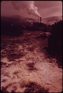 Oxford Paper Company Mill Viewed from the Bridge Across the Androscoggin River ... 06/1973