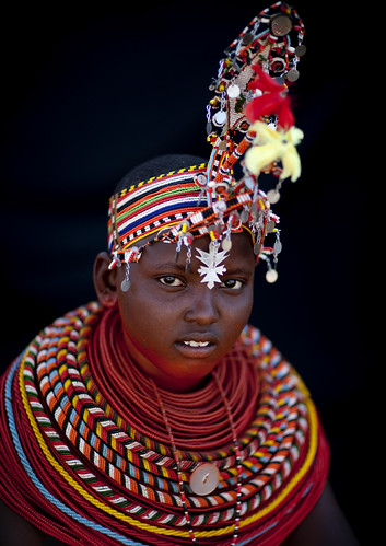 Samburu woman ready to be married - Kenya