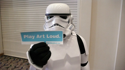 ArtBabble and a Stormtrooper