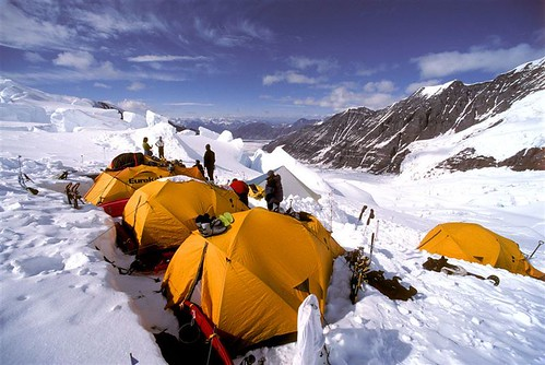 Camp 2 on the Russell Glacier