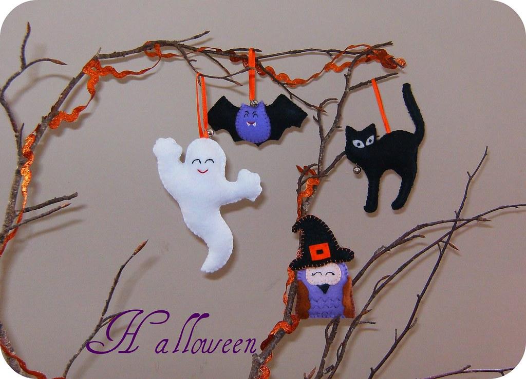 Adornos de fieltro para halloween felt decoration a - Adornos de halloween ...