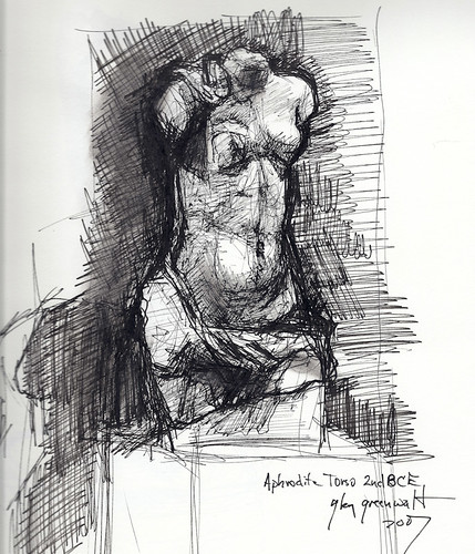 Aphrodite, 2BCE, Ink Scribble