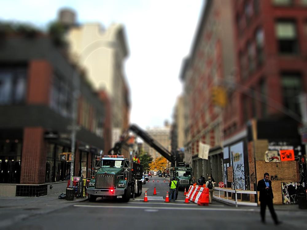 Spring Street (tilt shift)