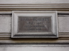 Photo of Frederick Roberts grey plaque
