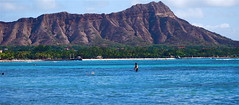 Diamond Head Crater from a beach in Waikiki