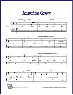Unforgettable image regarding free printable piano sheet music for amazing grace