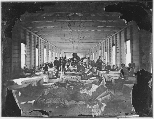 Matthew Brady Wounded soldiers in hospital civil war