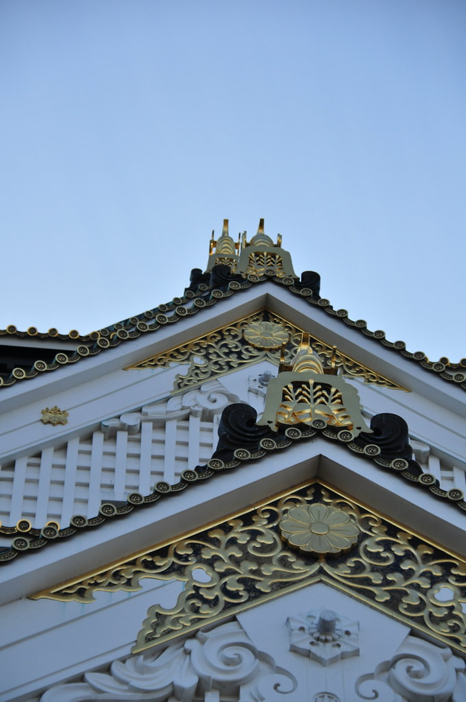 Decorations on Osaka's castle