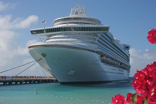 Crown Princess Docked At Grand Turk Turks And Caicos