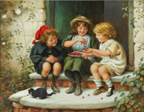 "James Clark, ""A bowl of cherries"""