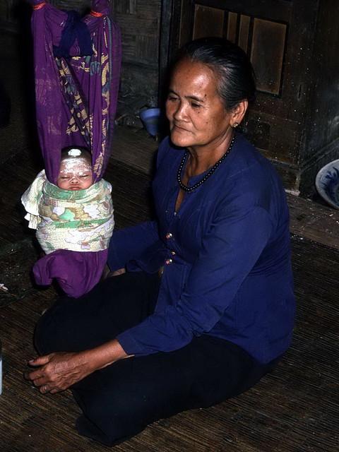 Kalimantan hanging baby