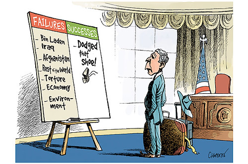 "an analysis of president bushs administration in a caricature cartoon Just exactly where was rush when the bush administration  too few news conferences was one of bushs  her ""enemies"" have created a caricature."