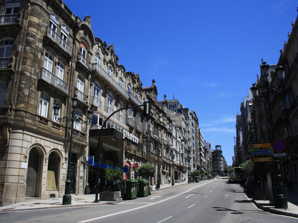 Rúa Urzáiz en Vigo