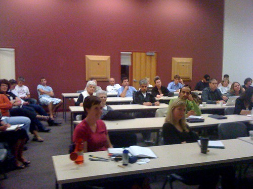 The crowd at Social Media Club in Victoria ...