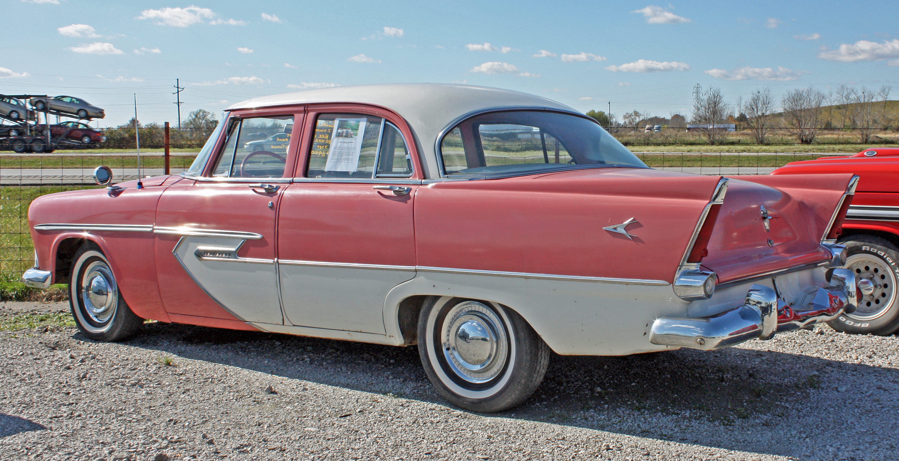 1956 plymouth belvedere 4 door sedan 7 of 7 flickr