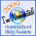 Homeschool Blog Awards Nominated button