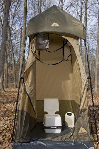 "Our ""outhouse"" with Thetford Porta-Potti"