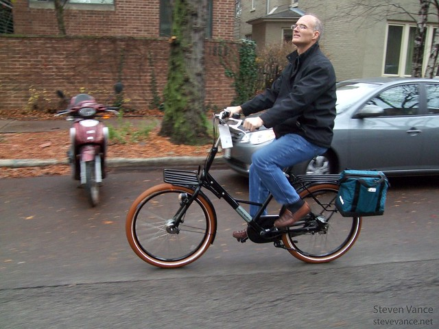 Riding on Dutch bikes with my dad