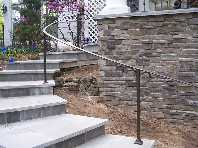 Exterior curved wrought iron handrails flickr photo - Exterior wrought iron handrails for steps ...