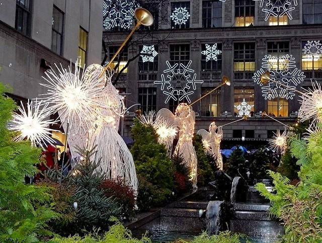 Angels at Rockefeller Center