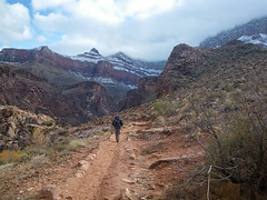 Snow on the South Rim - Bright Angel Trail - Grand Canyon