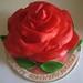 Large rose cake