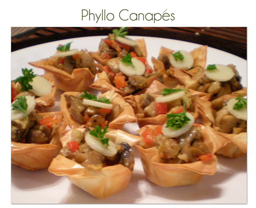 Mushroom phyllo canape recipe by madalinaa petitchef for Canape fillings